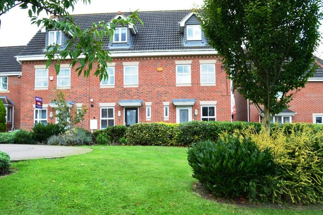 Thumbnail Town house to rent in Carty Road, Leicester