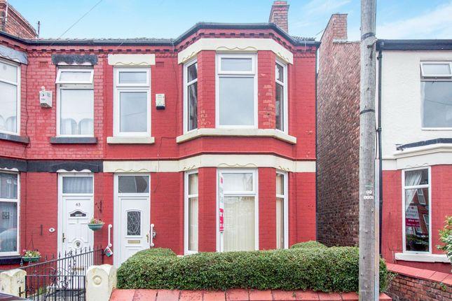Thumbnail Semi-detached house for sale in Highfield Road, Rock Ferry, Birkenhead