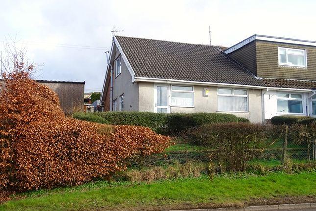 Thumbnail Semi-detached bungalow for sale in Mount View, Twynyrodyn, Merthyr Tydfil