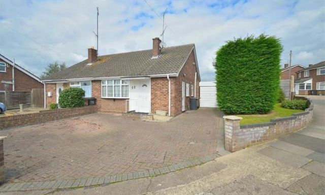 2 bed semi-detached bungalow to rent in Hoylake Drive, Links View, Northampton NN2