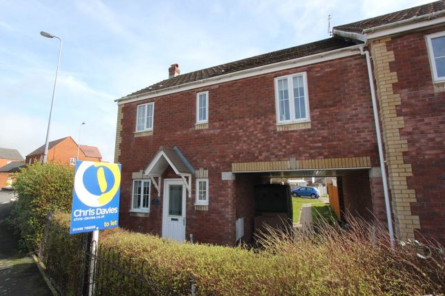 Thumbnail End terrace house to rent in Heol Y Dryw, Rhoose, Vale Of Glamorgan