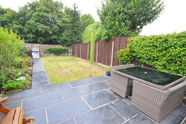 Garden of Ashby Avenue, Chessington, Surrey. KT9
