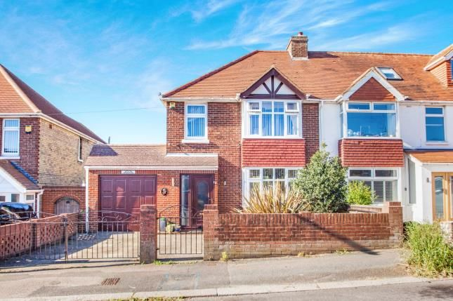 Thumbnail Semi-detached house for sale in Downs Road, Folkestone, Kent