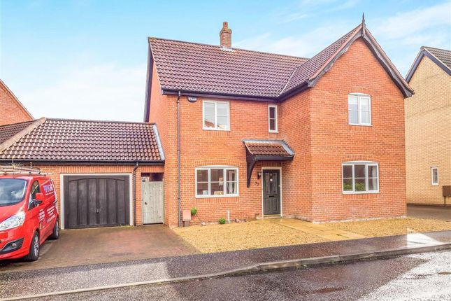 Thumbnail Link-detached house for sale in Mileham Drive, Aylsham, Norwich