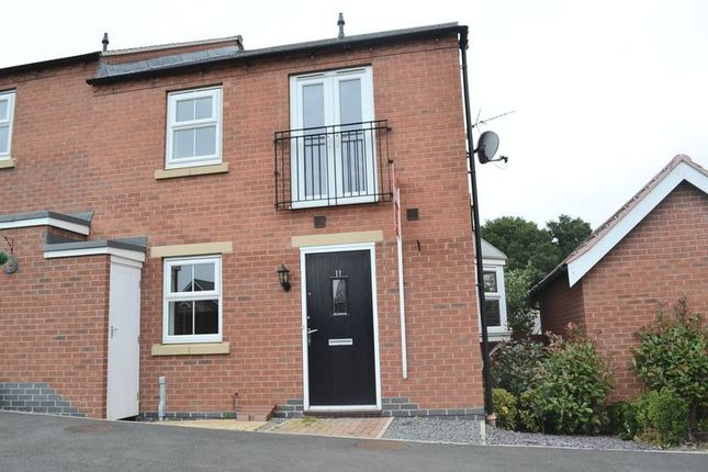 Thumbnail Semi-detached house to rent in Easton Court, Church Gresley, Swadlincote