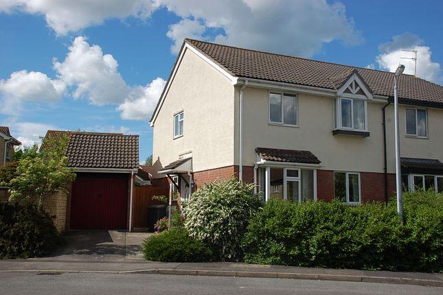 Thumbnail Semi-detached house to rent in Campion Drive, Trowbridge, Trowbridge, Wiltshire