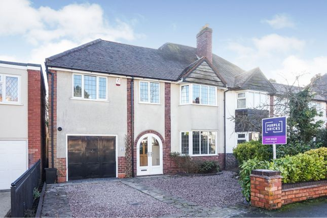 Thumbnail Semi-detached house for sale in Cremorne Road, Sutton Coldfield