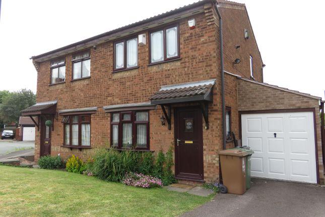 Thumbnail Semi-detached house to rent in Peel Close, Darlaston, Wednesbury