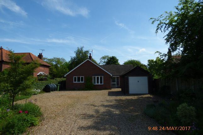 Thumbnail Detached bungalow to rent in Norwich Road, Ditchingham, Bungay