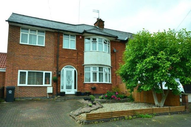 Thumbnail Semi-detached house for sale in Romway Drive, Evington, Leicester