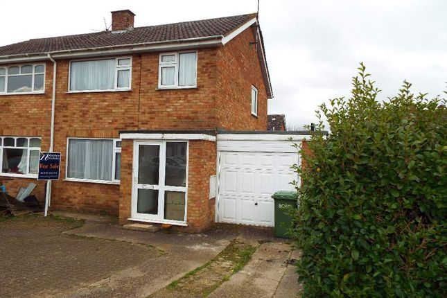 Thumbnail Semi-detached house for sale in Knights Close, Bozeat, Northamptonshire
