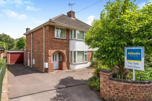 Thumbnail Semi-detached house for sale in Hellesdon, Norwich, Norfolk