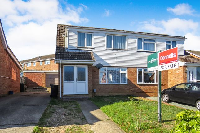 Thumbnail 3 bed semi-detached house for sale in Clover Road, Flitwick, Bedford