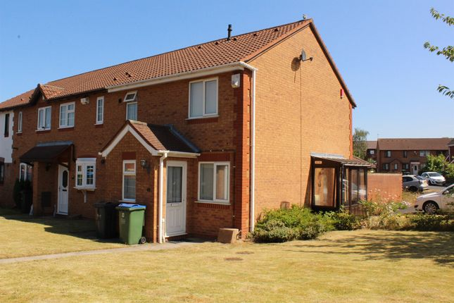 Thumbnail End terrace house for sale in Avern Close, Tipton