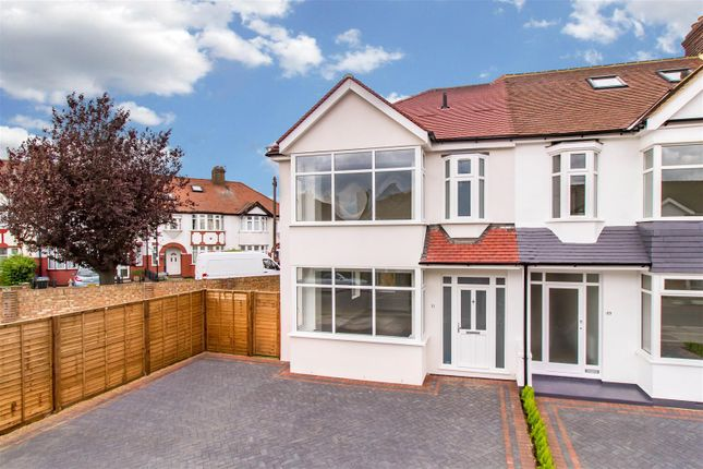 Thumbnail End terrace house for sale in Kenmare Gardens, Palmers Green, London