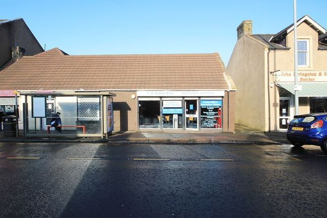 Retail premises to let in East Main Street, Whitburn