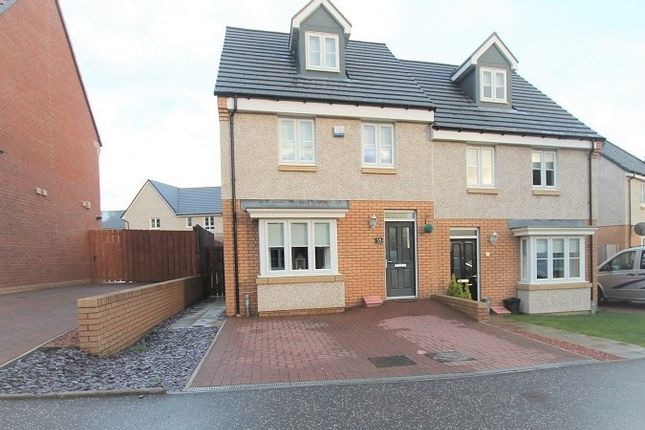 Thumbnail Town house for sale in Cook Crescent, Motherwell