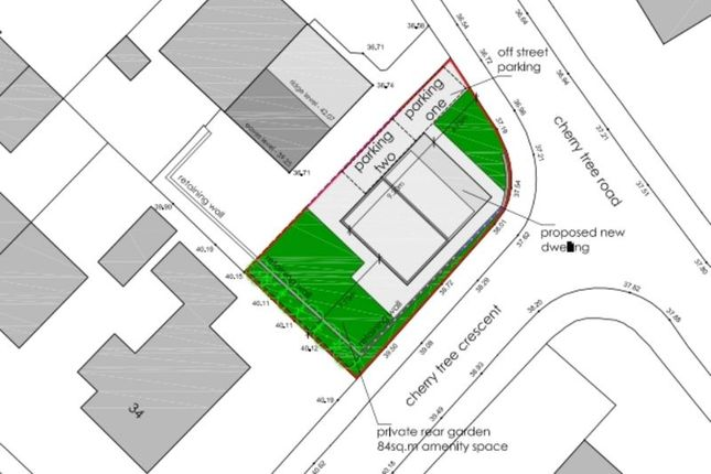 Thumbnail Land for sale in Cherry Tree Road, Walton, Wakefield
