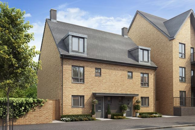 "Thumbnail Semi-detached house for sale in ""The Eastwell"" at Repton Avenue, Ashford"