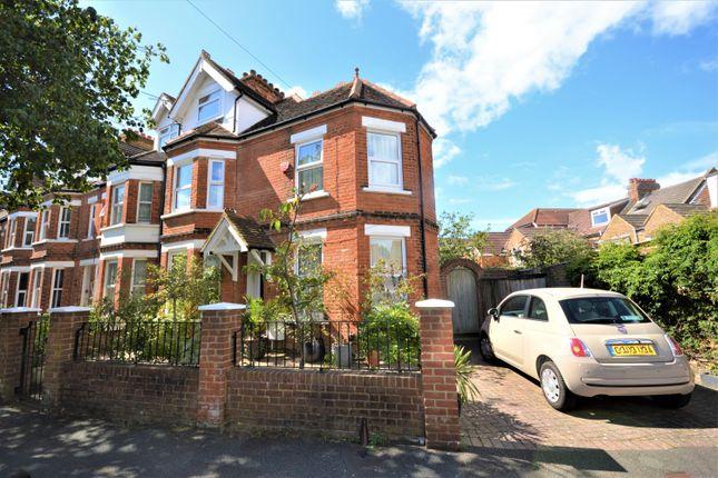 Thumbnail End terrace house for sale in Boscombe Road, Folkestone, Kent