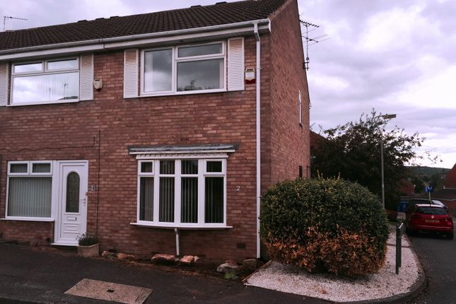 Thumbnail End terrace house to rent in Almond Rise, Forest Town, Mansfield