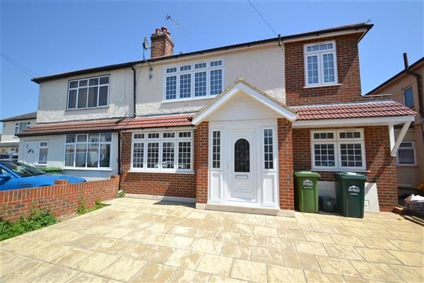 Thumbnail Semi-detached house for sale in Willowbrook Road, Staines