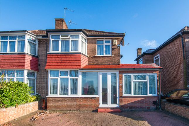 Thumbnail Semi-detached house for sale in Burnell Gardens, Stanmore