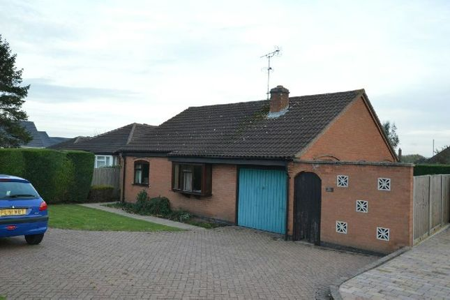 Thumbnail Detached bungalow for sale in Fosse Close, Enderby, Leicester