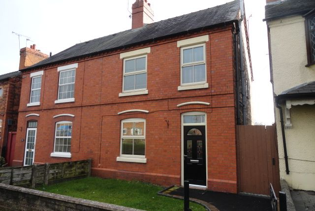 Thumbnail Semi-detached house to rent in Wrexham Road, Whitchurch, Shropshire