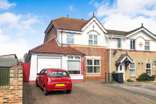 Thumbnail End terrace house for sale in Lanyard Drive, Gosport