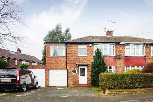 Thumbnail Semi-detached house to rent in Waterbury Road, Brunton Park, Gosforth