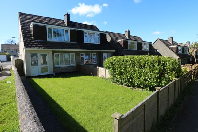 Thumbnail Semi-detached house for sale in Aneray Road, Camborne