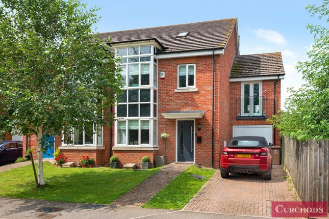 Thumbnail End terrace house for sale in Catlin Crescent, Shepperton