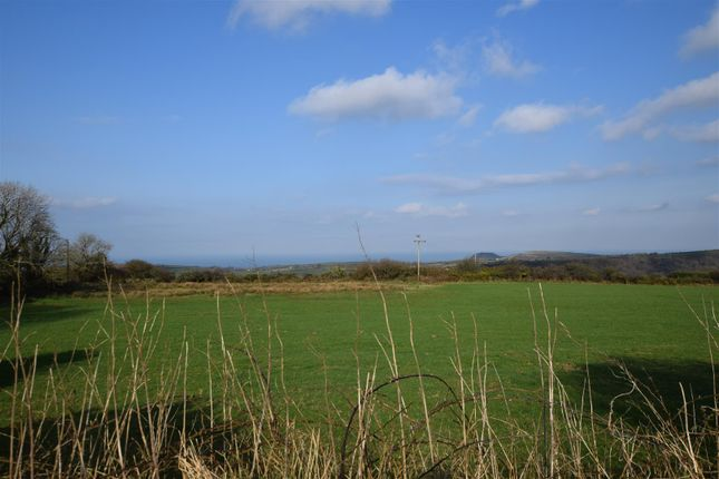 Views To Rear Over Open Fields And Distant Sea Vie