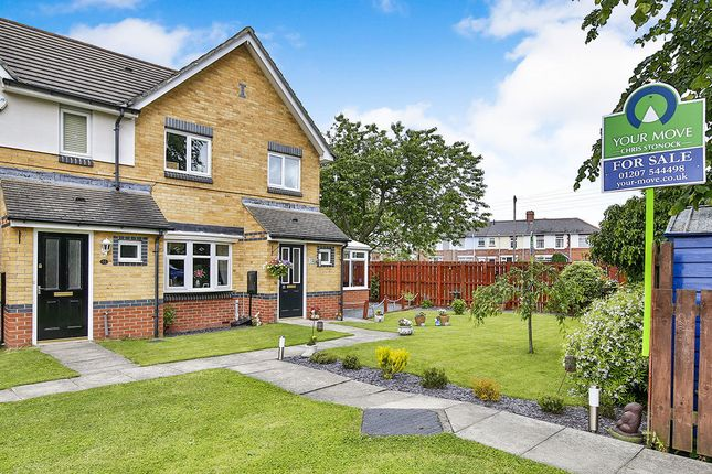 Thumbnail Semi-detached house for sale in Crathorne Court, Burnopfield, Newcastle Upon Tyne