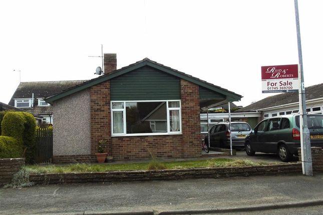 Thumbnail Detached bungalow for sale in Ashly Court, St. Asaph, Denbighshire