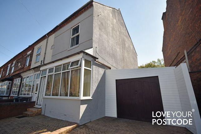 Thumbnail End terrace house for sale in Slade Road, Erdington, Birmingham