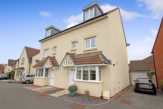 Thumbnail Town house for sale in Ferris Way, Paxcroft Mead, Trowbridge, Wiltshire