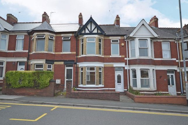 Thumbnail Terraced house for sale in Bay-Fronted Period House, Caerleon Road, Newport