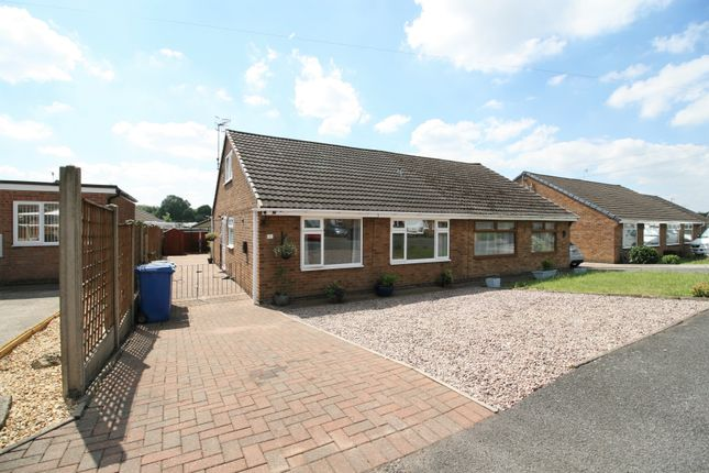Thumbnail Semi-detached bungalow for sale in Caxton Close, New Whittington, Chesterfield