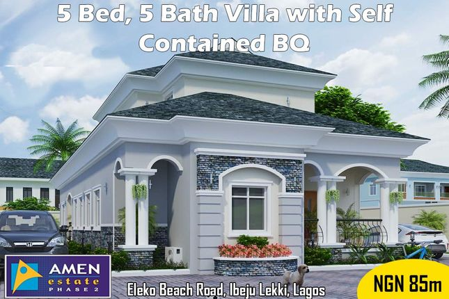 Thumbnail Villa for sale in Amen Estate Phase 2, Eleko Beach Road, Ajah, Ibeju Lekki, Lagos