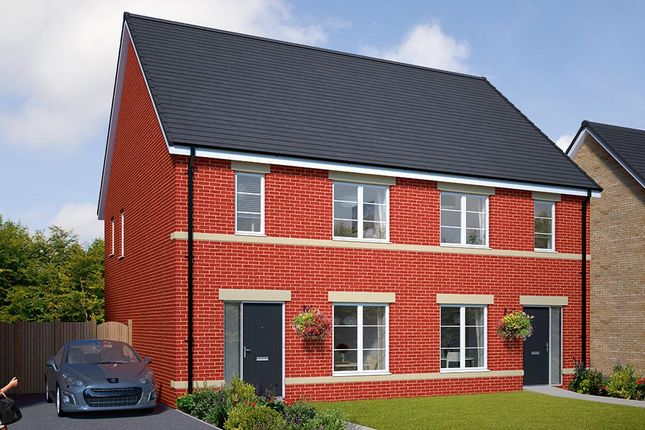 "Thumbnail Semi-detached house for sale in ""The Honiton"" at Browney Lane, Browney, Durham"