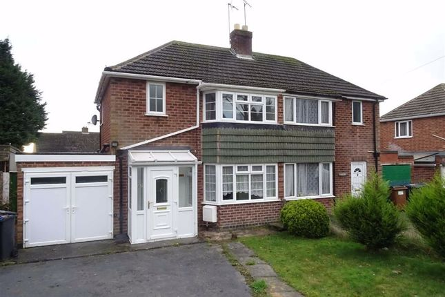 Thumbnail Semi-detached house to rent in Hollycroft Crescent, Hinckley