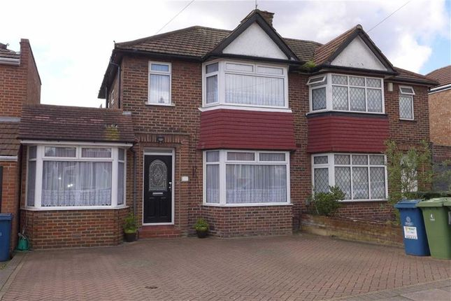 Thumbnail Semi-detached house for sale in Wetheral Drive, Stanmore, Middlesex