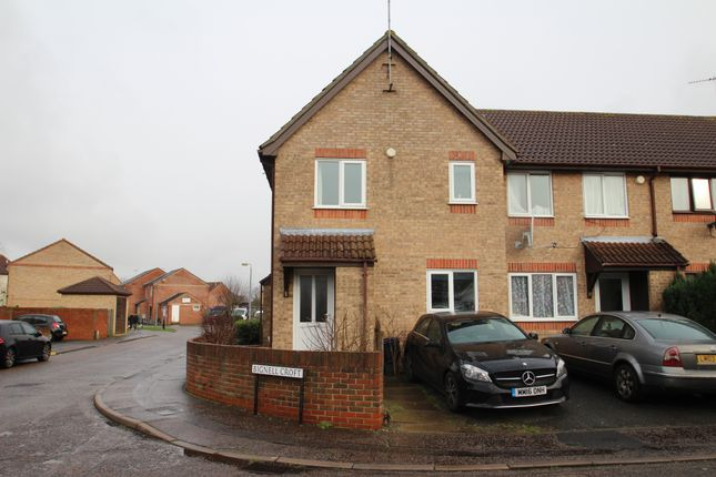 Thumbnail End terrace house to rent in Bignell Croft, Colchester, Essex