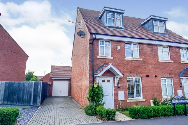 Thumbnail Semi-detached house for sale in Cowslip Road, Stratford-Upon-Avon