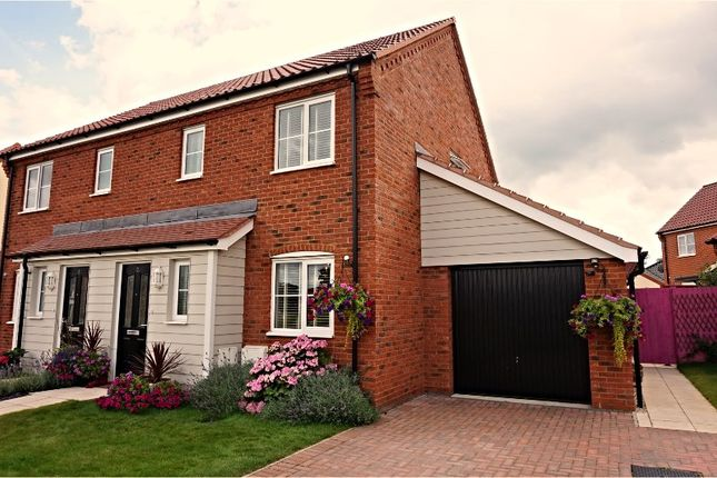 Thumbnail Semi-detached house for sale in Crome Drive, Hoveton, Norwich