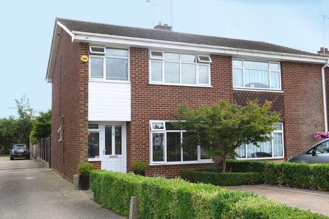 Thumbnail Semi-detached house for sale in Nicholson Road, Benfleet