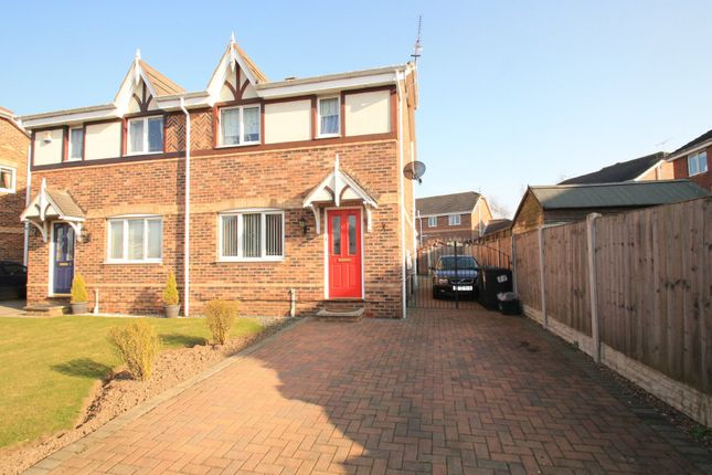 Thumbnail Semi-detached house to rent in Chatsworth Drive, Rossington, Doncaster