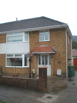 Thumbnail Semi-detached house to rent in Coniston Rise, Cwmbach, Aberdare